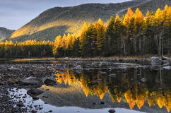 Lac mountain, Russie, Sibérie, Buryatiya, Froliha Photographie stock libre de droits