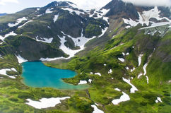 Lac mountains en Alaska Photos stock