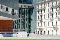 LAC museum at Lugano on the italian part of Switzerland Stock Images