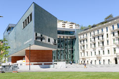 LAC museum at Lugano on the italian part of Switzerland Royalty Free Stock Photography