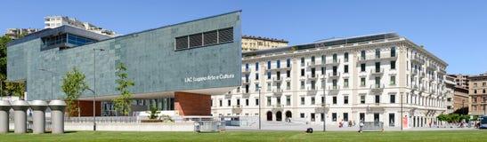 LAC museum at Lugano on the italian part of Switzerland Stock Photo