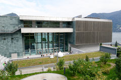 LAC museum at Lugano on the italian part of Switzerland Royalty Free Stock Photo