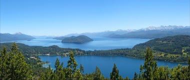 Lac Nahuel Haupi. Bariloche. l'Argentine. Image stock