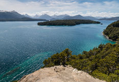 Lac nahuel Huapi dans le Patagonia Photo stock