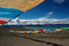 Lac Namtso Photo stock