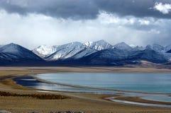 Lac Namtso Photographie stock