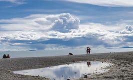 Lac Namtso, Thibet Photos libres de droits