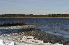 Lac Necko, Pologne, Masuria, podlasie Photographie stock