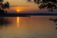 Lac Necko, Pologne, Masuria, podlasie Photographie stock libre de droits