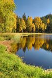 Lac noir dans des roches de Jirasek dans la République Tchèque photographie stock