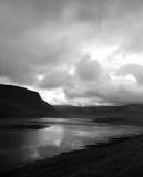 Lac noir et blanc Image libre de droits