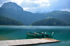 Lac noir (jezero de Crno) - Durmitor photo libre de droits
