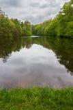 Lac nuageux Photo libre de droits