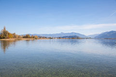 Lac Obersee, automne Photo stock