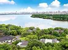 Lac occidental à Hangzhou, Zhejiang, Chine photographie stock libre de droits
