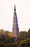 Lac occidental Hangzhou Zhejiang Chine pagoda antique de Baochu image stock