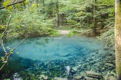 Lac Ochiul Beiului, parc national de BeuÅŸniÅ£a d'†de Cheile Nerei «, Roumanie Photos libres de droits