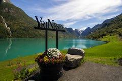 Lac Oldenvatnet en Norvège en Europe Photographie stock