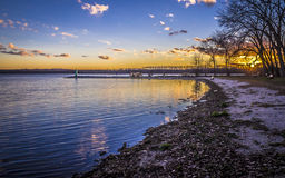 Lac Onondaga, parc, New York Image stock