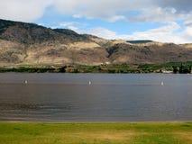 Lac Osoyoos dans le jour d'été chaud, Colombie-Britannique, Canad Images libres de droits