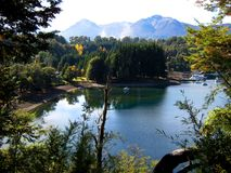 Lac paisible dans le Patagonia Images stock
