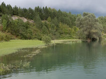 Lac paisible mountain Image stock