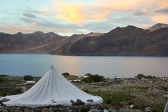 Lac Pangon, Leh. Photo libre de droits