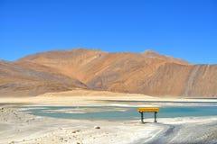 Lac Pangong dans Ladakh, Inde Image libre de droits