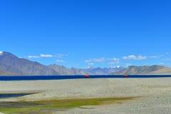 Lac Pangong dans Ladakh, Inde Photo libre de droits