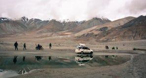 Lac Pangong dans Ladakh, Inde Image stock