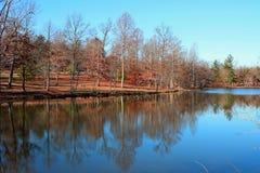 Lac pendant l'automne Photographie stock libre de droits