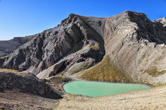Lac petit Cayolle Photo stock