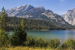 Lac Phelps en stationnement national grand Wyoming Etats-Unis de Teton Images stock