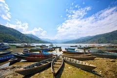 Lac Phewa Images libres de droits