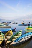 Lac Phewa, Pokhara, Népal Photos libres de droits