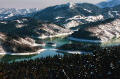 Lac Plastiras, Karditsa, Grèce photos stock
