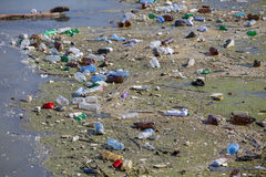 Lac pollué Image libre de droits