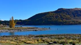Lac populaire et scénique Tekapo à Cantorbéry Image libre de droits