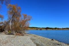 Lac populaire et scénique Tekapo à Cantorbéry Photos libres de droits