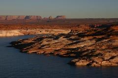 Lac Powell au coucher du soleil Photographie stock libre de droits