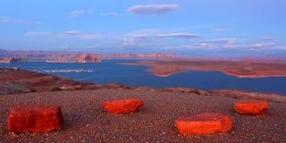 Lac Powell au crépuscule Image stock