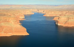 Lac Powell de l'air image stock