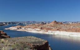 Lac Powell et canyon de gorge Images stock