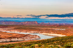Lac Powell Sunset Panorama Images stock