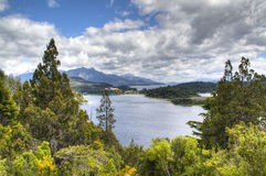 Lac près de Bariloche, Argentine Photographie stock libre de droits