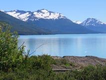Lac près de glacier de Moreno de perito Image stock