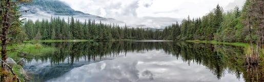 Lac près de paysage énorme de glacier de Mendhenall Images libres de droits
