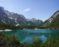 Lac Prags, Italie Photographie stock