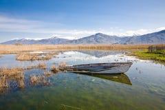 Lac Prespa, Grèce Photo libre de droits