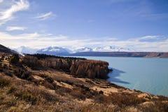 Lac Pukaki, île du sud, Nouvelle-Zélande Image libre de droits